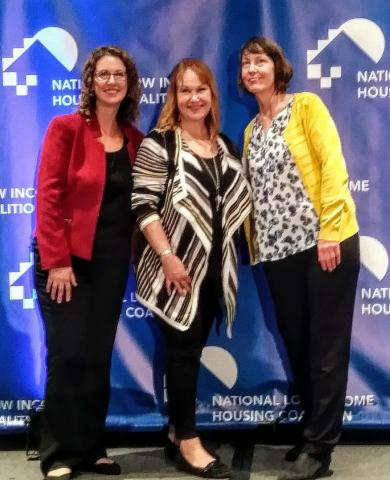 Diane Yentel, Mindy Woods and Rachael Myers at NLIHC 2019